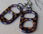 Eco-Friendly Blue and Gold Earrings