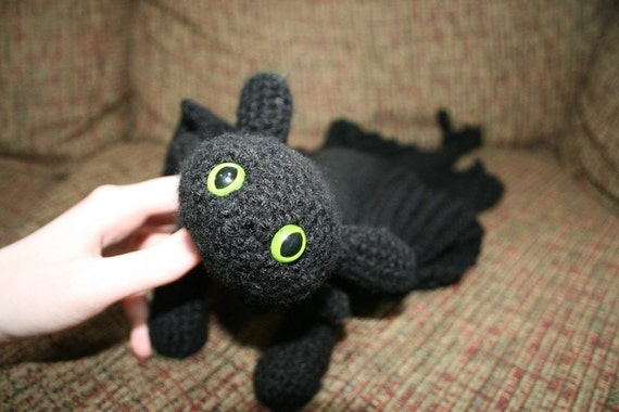Free Crochet Pattern For Toothless The Dragon : Toothless Crochet Pattern by CeciliaMCreations on Etsy