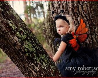Butterfly Costume,butterfly tutu set  Butterfly Tutu Costume Set-  Monarch Butterfly wings