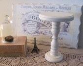 Shabby Chic Cream Wooden Pedestal