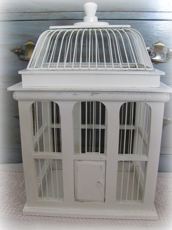 Beautiful Creamy White Decorative Bird Cage By