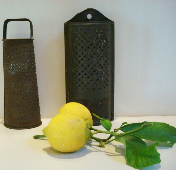 Vintage Tin Cheese Graters Set Of Two Acme Lemons Vintage