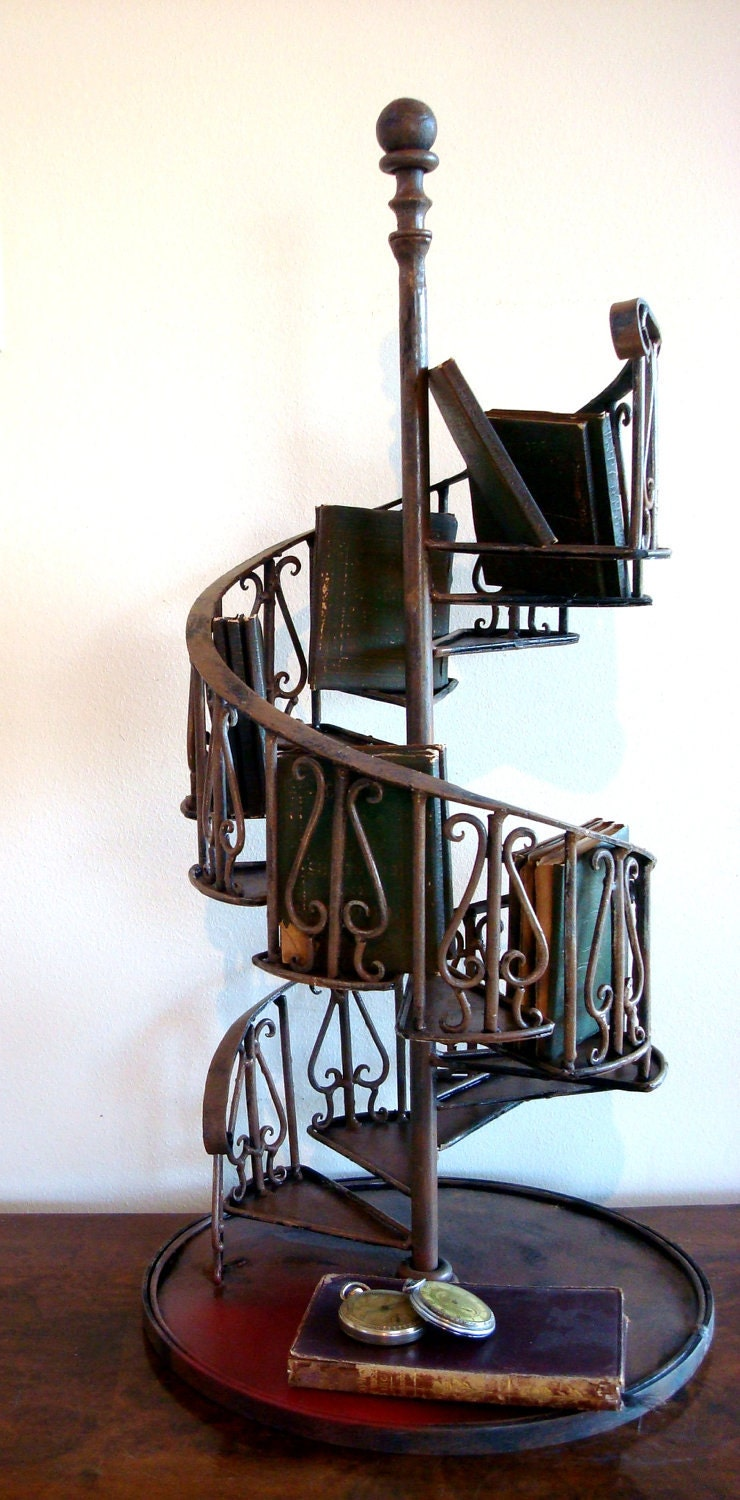 Vintage miniature architectural model for a spiral staircase for Architecture spiral staircase