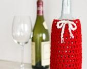 Wine Bottle Cozy in Cardinal