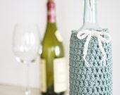 Wine Bottle Cozy in Sea Foam