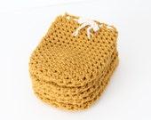 Wine Bottle Cozy in Honey Mustard (Set of 5) - SALE