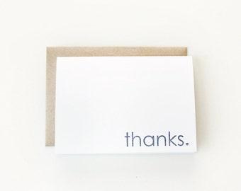 Thanks Folded Card