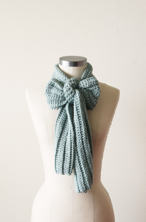Casual Scarf in Sea Foam