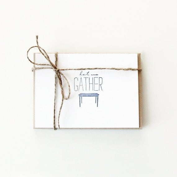 Let Us Gather Note Cards (Set of 5)