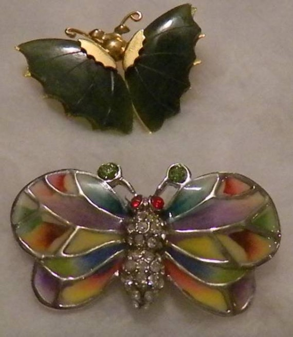 Two Vintage Butterfly Brooches/Pins