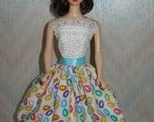Handmade Barbie clothes - jelly bean dress