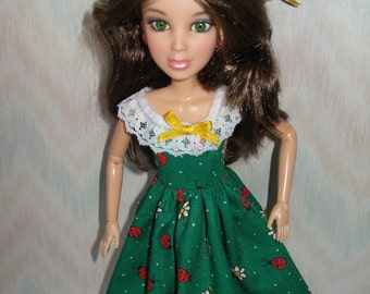 Handmade Liv doll clothes - dress and straw hat