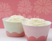 Printable Cupcake Wrappers - Jenna