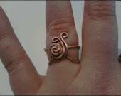 Copper Snail Ring
