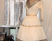 Vintage 1950s Frances Creations Patio Fashions Squaw Patio Skirt and Blouse Set Tucson Arizona