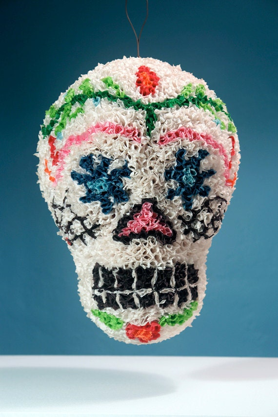 Items Similar To Handmade Sugar Skull Pinata Day Of The
