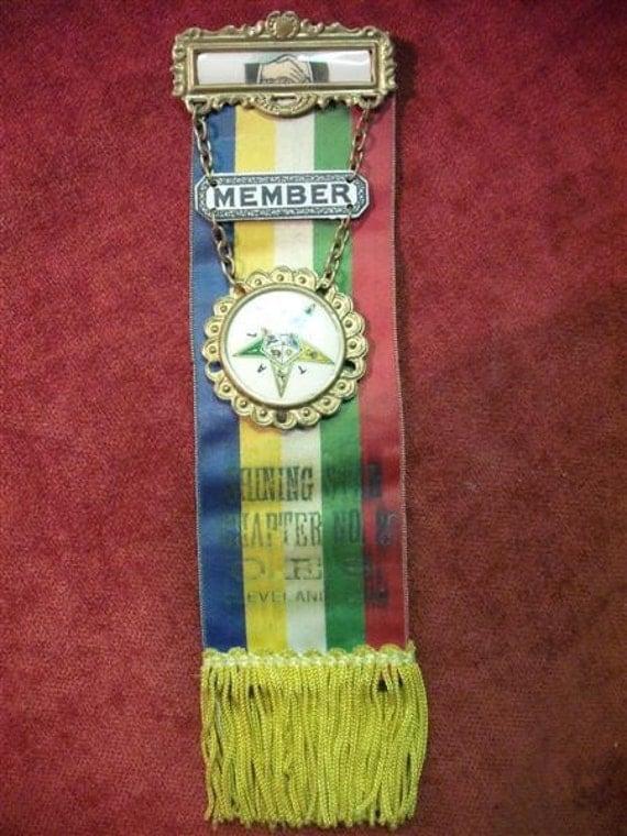 Vintage Ribbon Badge - Order Of The Eastern Star