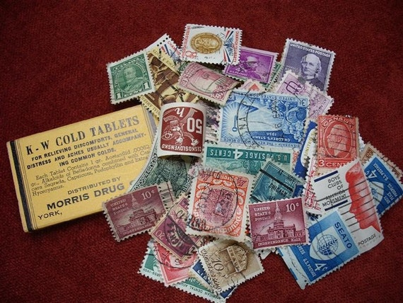 Wait A Minute Mr. Postman - Lot of 50 Postage Stamps