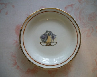 Vintage Miniature French/Victorian Plate