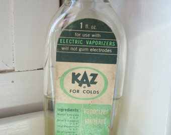 Vintage Apothecary - KAZ for Colds Vaporizer Inhalant