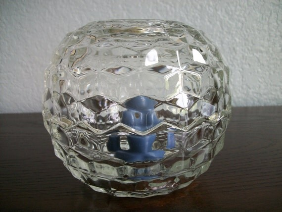 Vintage Homco Candle Holder Glass Votive Holder Home Interiors