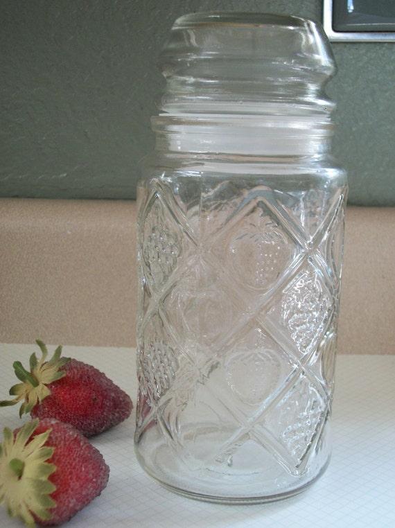 Vintage Smucker's Anchor Hocking Glass Cannister/Jar