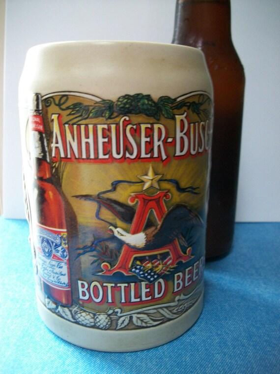 Vintage 1990's Anheuser-Busch Bottled Beers Mug - Budweiser Bottled Beer Stein -Treasury Item
