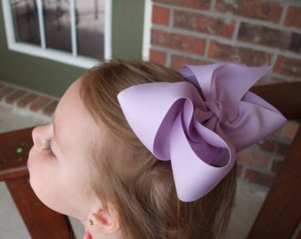 10 Extra Large Hair Bows, your choice of color, Over 100 colors to choose