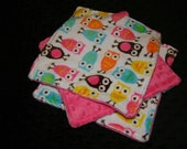 3 Minky Wash Cloths- Ships in 2-3 Business Days