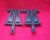 2 Tassel and Grain Design Cast Iron Trivets Griswold and JZH 0265