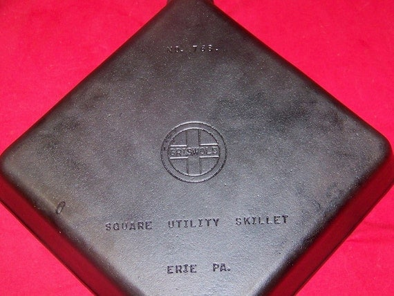 Griswold Cast Iron Square Utility Skillet 0292