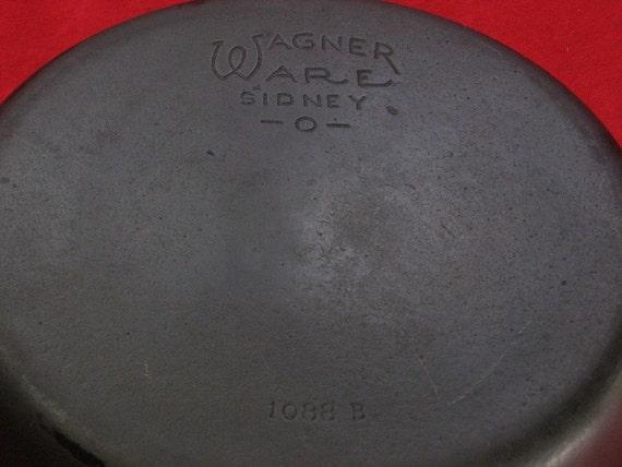 Wagner Ware Stylized Logo No. 8 Deep Cast Iron Skillet 0372