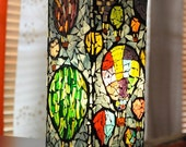 Hot Air Balloons Stained Glass Mosaic Lamp