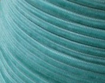 5 yards Antoinette Aqua Velvet Ribbon Trim