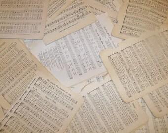 Vintage Paper Ephemera Packs-Sheet MUSIC-25 pieces