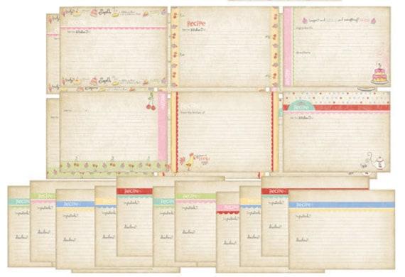 Kitschy Kitchen Recipe Cards Set-Melissa Frances