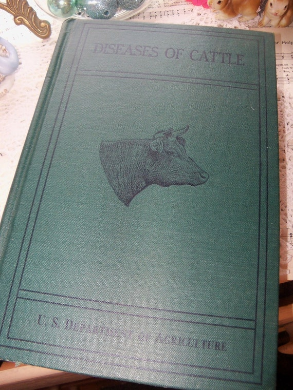 Antique Book-Diseases of Cattle-1923-US Department of Agriculture-Illustrated-Book Plates