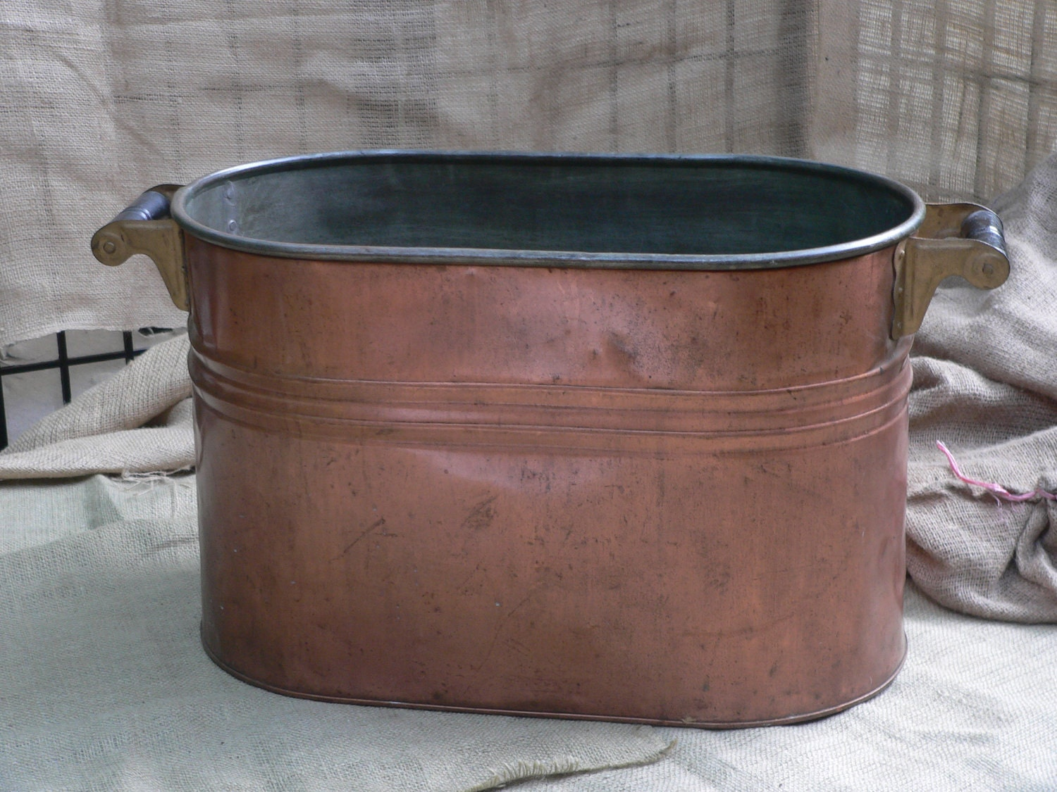 antique copper wash tub laundry tub double boiler amazing