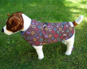 Dog Coat - Dog Coat Size Small- 12 to14 Inch Back Length - Or Custom Size