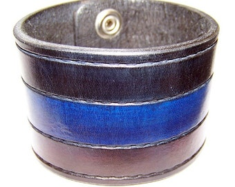 Item 020410 Leather Wrist Cuff 2 inches Wide Hand Tooled