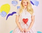 Nautical / Nautical Dress / Anne Fogarty / Sailor Dress / Dress / Dresses / 1950s Dress / Polkadot / Polka Dot / Bombshell / Pinup / 0887
