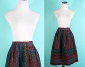 Rainbow / Aztec / Native /  Mexican / Woven / Skirt / 1960s Skirt / Ethnic / Skirt /  Southwest / Southwestern / 875