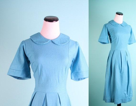 Turquoise Blue Dress / 1960s Dress / Vintage Dress / Mad Men Dress / Mad Men Joan / Dress / Dresses / Lolita / Babydoll / 0863