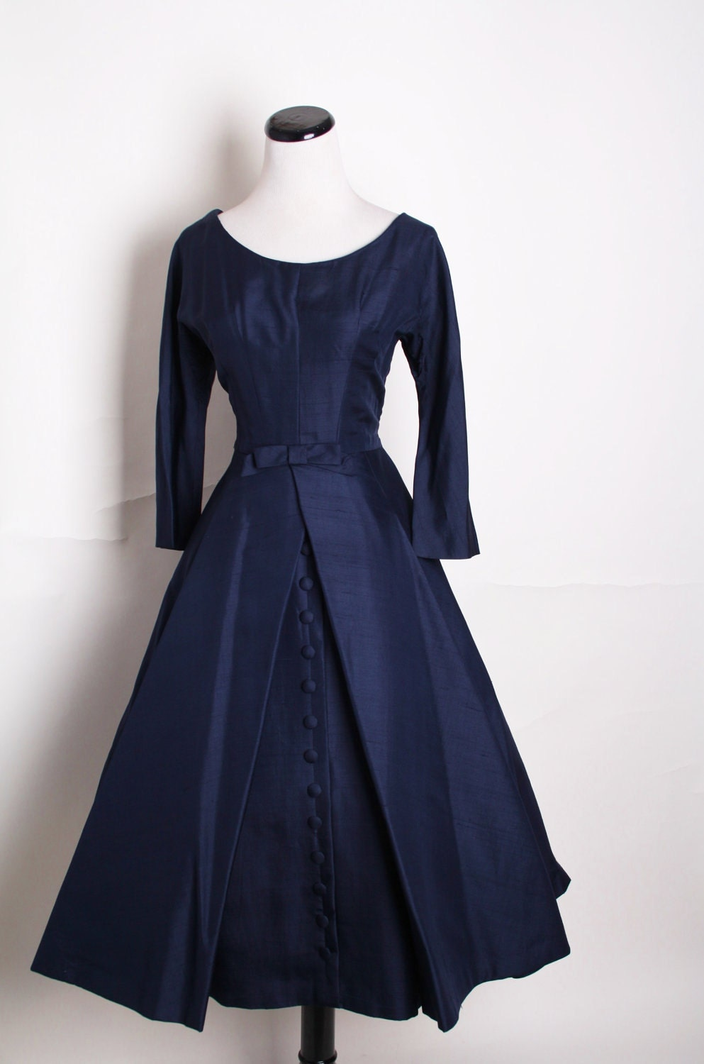 1950s Cocktail Dress Mad Men Betty Dress By Aiseirigh