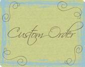 Deposit on Custom Wedding Cake Topper For Mark K