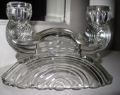 For Olivestreet Candle Holders Clear Depression Glass