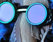 Steampunk Cyber Goggles Glasses Cosplay Anime Larp Rave Sheen Sparkle