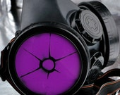 Black Cyber Mask Cyber Goth Respirator Gas Mask  RADIATION