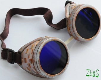 Steampunk Cyber Goggles Glasses Cosplay Anime Rave   4