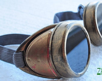 Steampunk Goggles  Old goggles Cyber Glasses Cosplay Anime Rave Victorian style